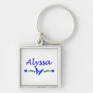 Alyssa (青い蝶) キーホルダー