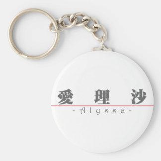 Alyssa 21036_3.pdfの中国のな名前 キーホルダー