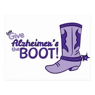 Alzheimerのブーツの郵便はがきを与えよう ポストカード