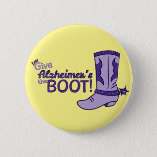 Alzheimerのブーツボタン 5.7cm 丸型バッジ