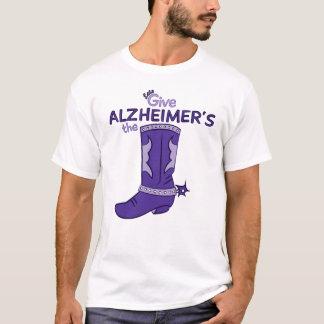 Alzheimerのブーツ#1のワイシャツを与えよう Tシャツ