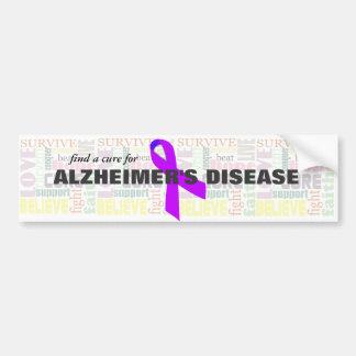 Alzheimerの感動的な単語 バンパーステッカー