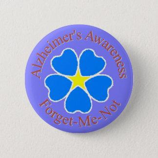 Alzheimerの認識度は私をないボタンrd忘れます 5.7cm 丸型バッジ