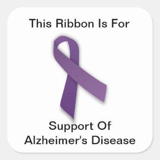 Alzheimerの認識度-ステッカー スクエアシール