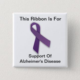 Alzheimerの認識度-正方形ボタン 5.1cm 正方形バッジ