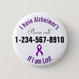 Alzheimersの緊急の接触 缶バッジ