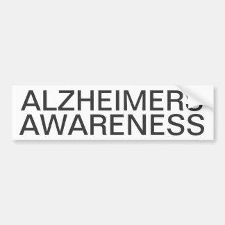 Alzheimersの認識度 バンパーステッカー