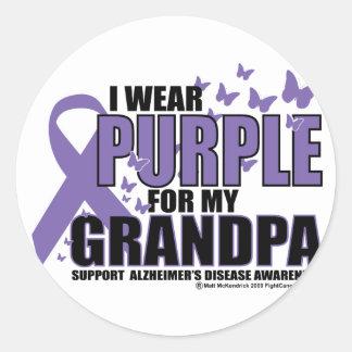 Alzheimers: 祖父のための紫色 ラウンドシール