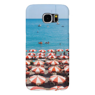 Amalfitanの海岸の傘 Samsung Galaxy S6 ケース