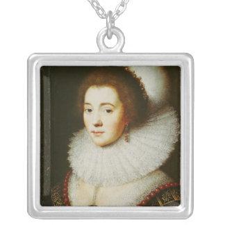 Amalia van Solms シルバープレートネックレス