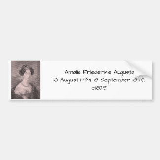 Amalie Friederikeオーガスタc1825 バンパーステッカー