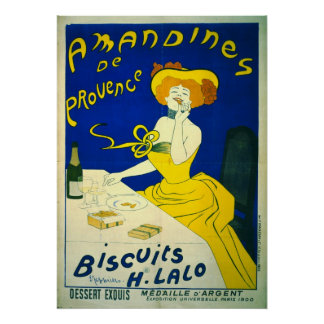 Amandines deプロバンス1900年 ポスター