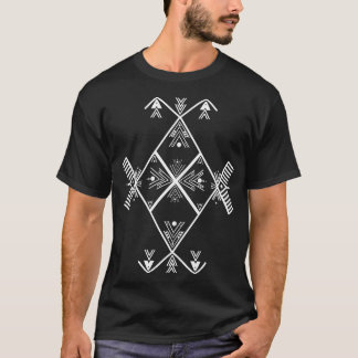 Amazighの芸術の白いデザインのTシャツ Tシャツ
