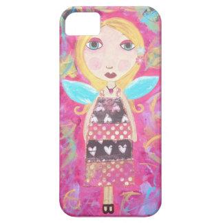 Ambrosinoの芸術のiPhoneのiPadの場合のピンクの妖精の天使 iPhone 5 ケース