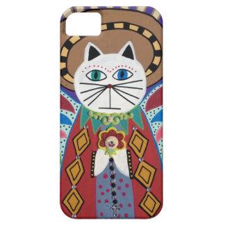 Ambrosinoの芸術のiPhoneのiPadの場合猫の天使の妖精 iPhone SE/5/5s ケース