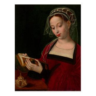 Ambrosius Benson著Magdalenの読書 ポストカード