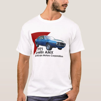 AMCによる1971年の投げ槍AMX筋肉車 Tシャツ