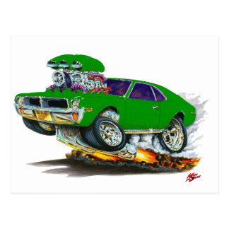 AMCの投げ槍の緑車 ポストカード