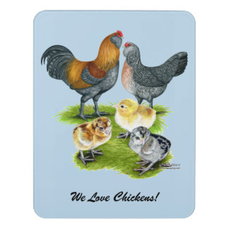 Ameraucanaの鶏家族 ドアサイン