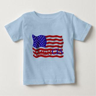 AMERCIAの偽の旗のデザイン(アメリカ) ベビーTシャツ