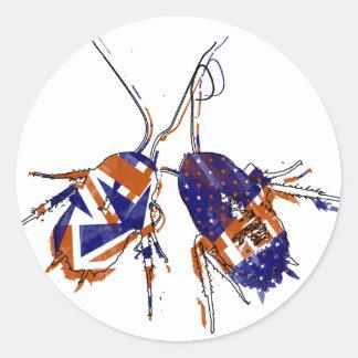 Ameri英国人のゴキブリ ラウンドシール