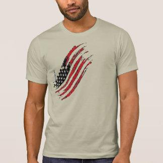 america great national US flag star stripes design Tシャツ