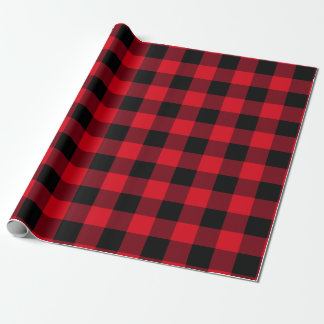 American Loft Buffalo Check Red and Black ラッピングペーパー