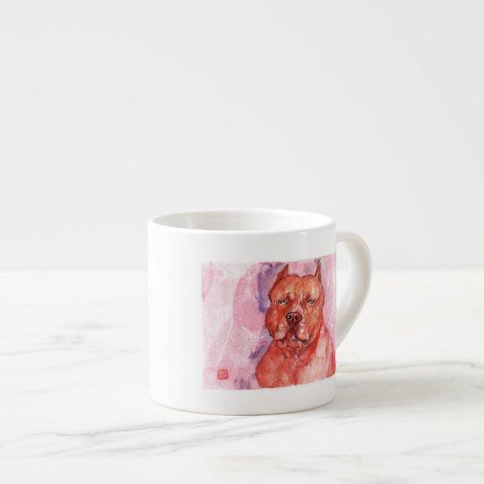 American pit bull terrier Red Espresso エスプレッソカップ