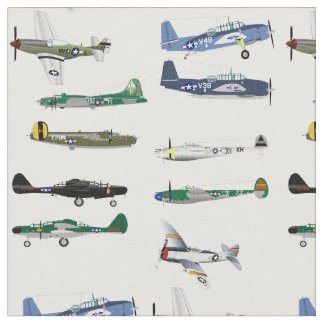 American World War Two Fighters Fabric ファブリック