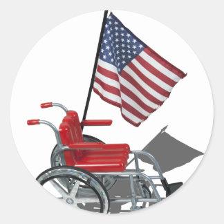 AmericanFlagWheelchair090912.png ラウンドシール