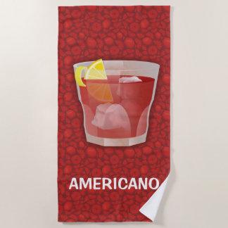 Americanoのカクテル ビーチタオル