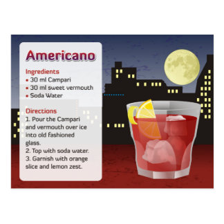 Americanoのレシピカード ポストカード