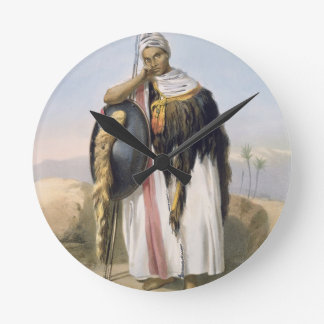 Amhara、エチオピアのイラストレーションからの戦士からの「 ラウンド壁時計