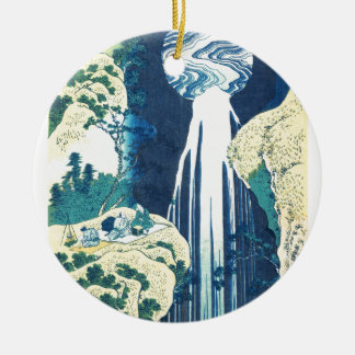 Amidaの滝(Katsushika Hokusaiの19世紀) セラミックオーナメント