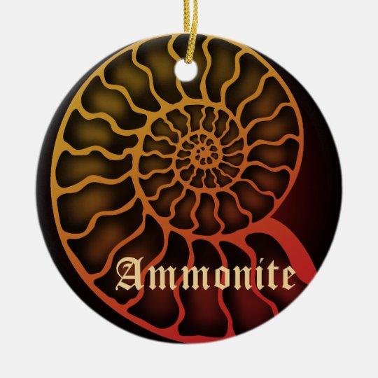 Ammonite 陶器製丸型オーナメント