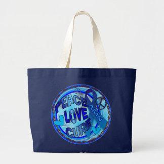 AMNの認識度の平和愛治療 ラージトートバッグ