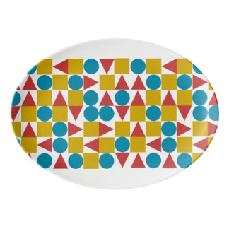 Amo/33 cm X 23.5 cmの磁器のクーペの大皿 磁器大皿