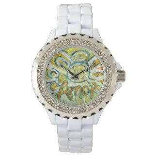 Amorの感動的な守り神愛腕時計 腕時計