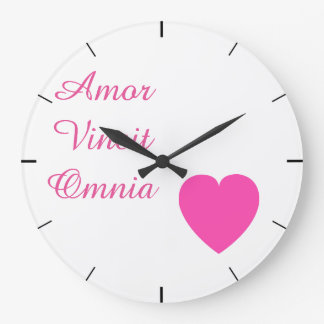 Amor Vincit Omnia (愛はすべてを征服します) ラージ壁時計