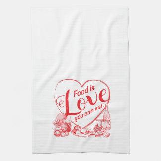 Amoreの輪郭の台所タオル キッチンタオル