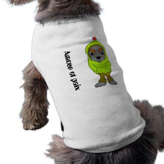 Amour et paix 犬用袖なしタンクトップ