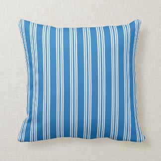 Amparo青いチェルシーのストライプな枕 クッション