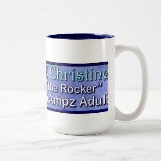 Ampz無線Djクリスティーンのコーヒーのマグ ツートーンマグカップ