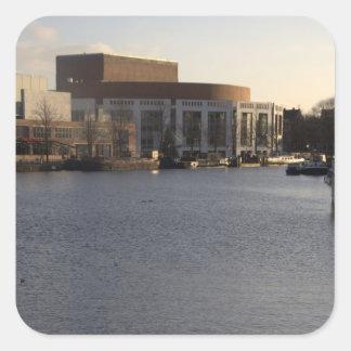 Amstel川およびアムステルダムミュージックホール スクエアシール