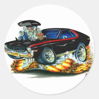 AMXの黒赤い車 ラウンドシール