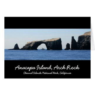 Anacapaの島、アーチの石 カード