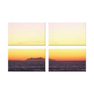 Anacapaの日没 キャンバスプリント