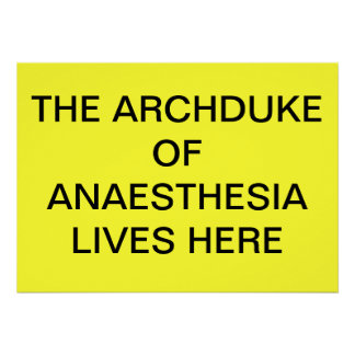 ANAESTHESIAポスターのARCHDUKEはここに住んでいます ポスター