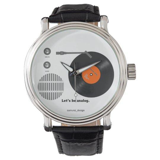 Analog record player 腕時計