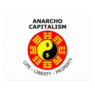 Anarchoの資本主義-生命、自由、特性 ポストカード